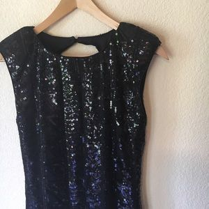 [new] Black Sequin Mini Dress M